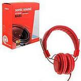 Наушники кожаные Sonic Sound E322B/MP3, Цвет Чёрный, фото 3