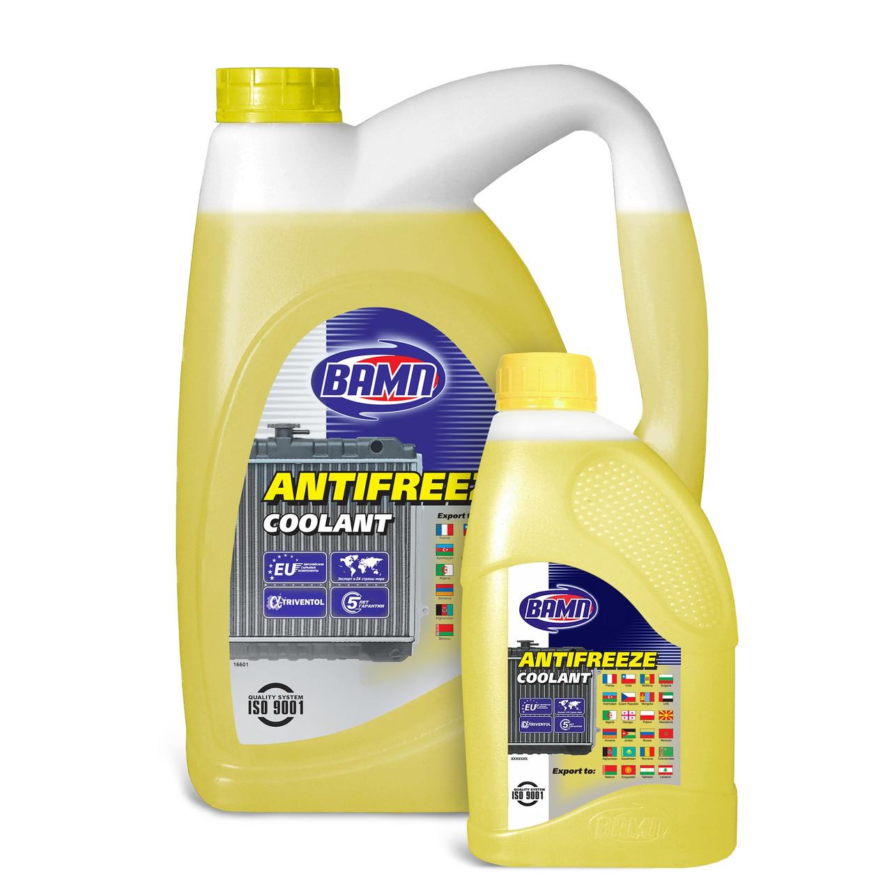 Охлаждающая жидкость Вамп Антифриз-40 желтый 1л