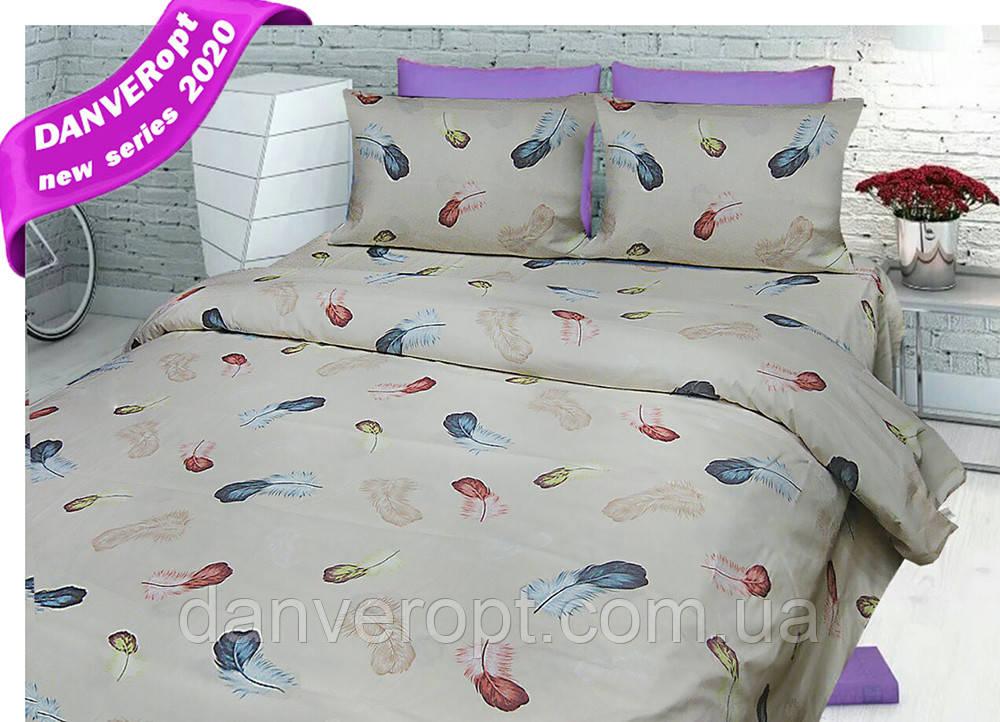 Постільна білизна двоспальне FEATHERS бавовна ,розмір 175*215, купити оптом зі складу 7км Одеса
