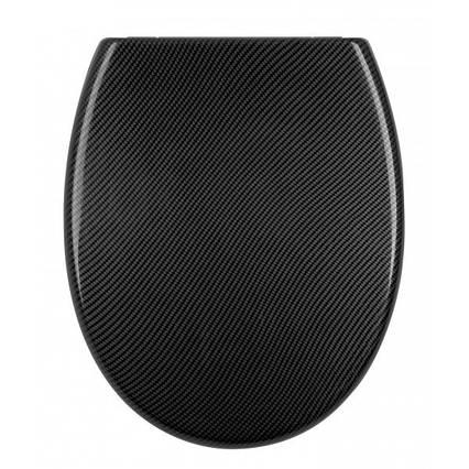 Кришка для унітазу Carbon чорна AWD02181451