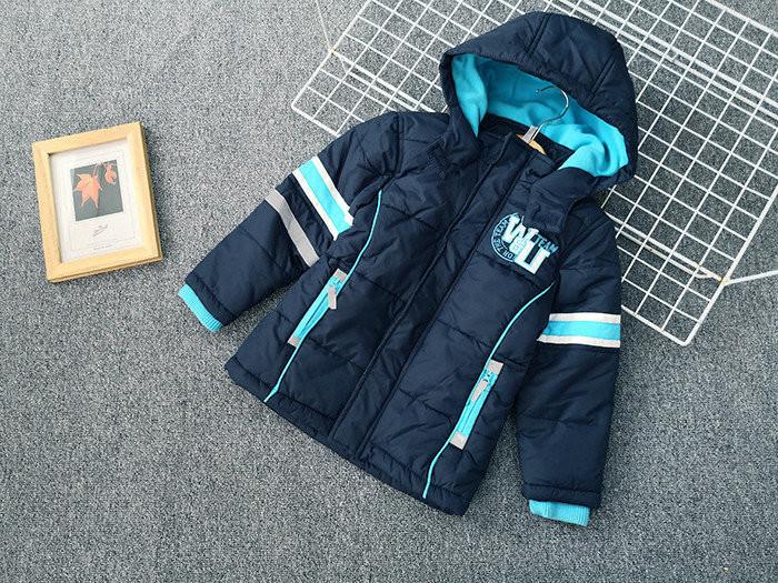 Брендовий куртка тепла на синтепоні і флісі для хлопчика осінь-весна Topolino 110 см