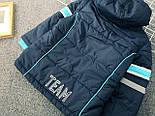 Брендовий куртка тепла на синтепоні і флісі для хлопчика осінь-весна Topolino 110 см, фото 3