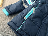 Брендовий куртка тепла на синтепоні і флісі для хлопчика осінь-весна Topolino 110 см, фото 4