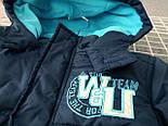 Брендовая куртка теплая  на синтепоне и флисе для мальчика осень-весна Topolino 110 см, фото 5