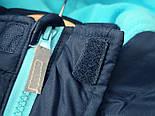 Брендовая куртка теплая  на синтепоне и флисе для мальчика осень-весна Topolino 110 см, фото 6