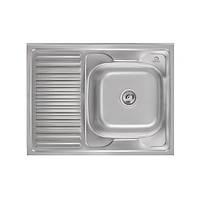 Мийка для кухні з харчової нержавіючої сталі AISI 201 WAL-D8060R-16-06N