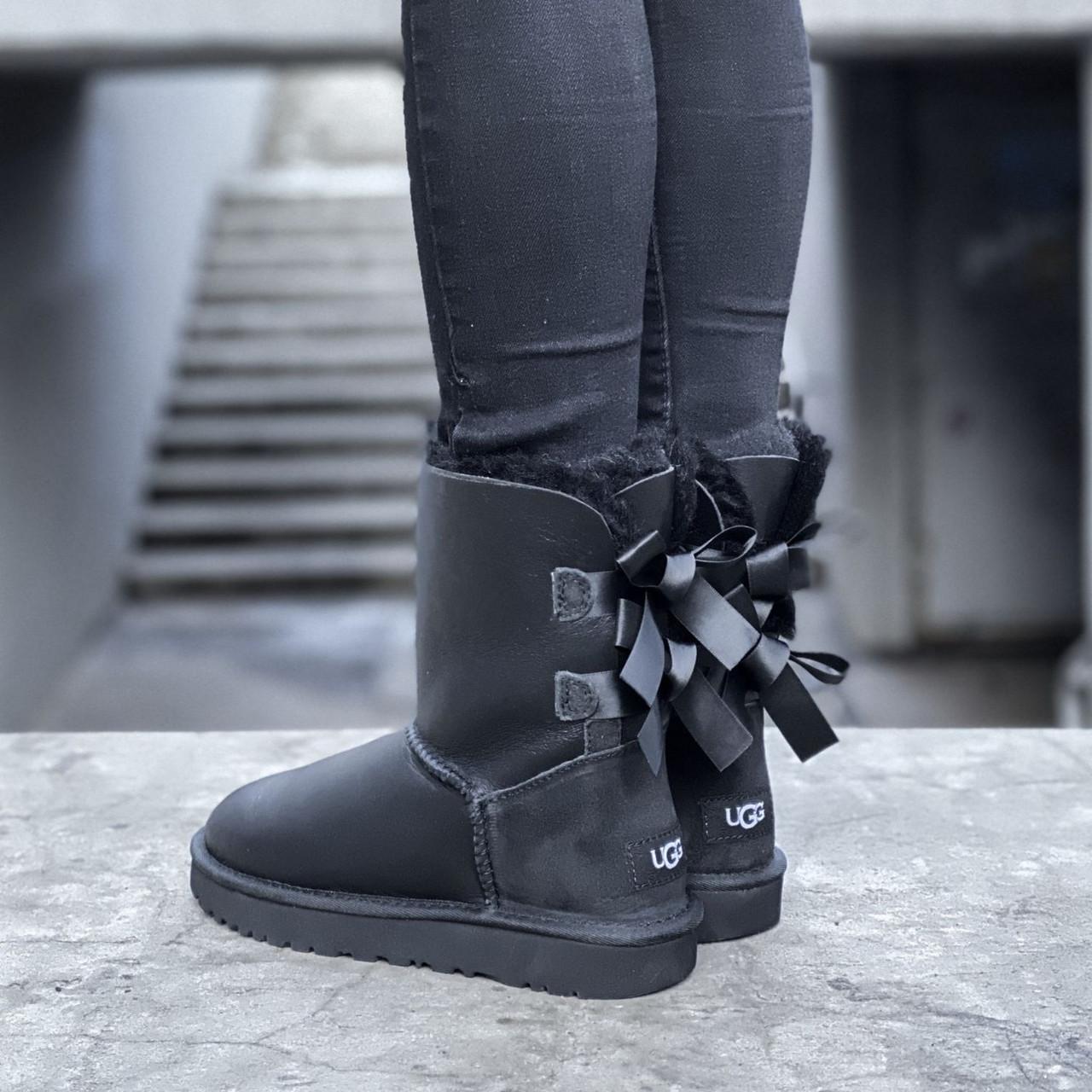 Угги женские в стиле UGG Australia Bailey Bow II Black