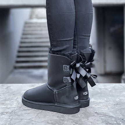 Угги женские в стиле UGG Australia Bailey Bow II Black, фото 2