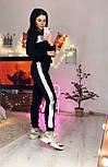 Жіночий теплий костюм спорт трійка з жилетом з стьобаної плащової тканини vN6574, фото 6