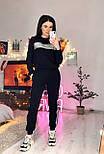 Жіночий теплий костюм спорт трійка з жилетом з стьобаної плащової тканини vN6574, фото 7