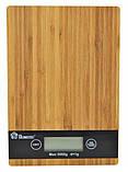 Весы кухонные платформа бамбук на 5 кг Domotec MSA, фото 2