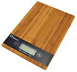 Весы кухонные платформа бамбук на 5 кг Domotec MSA, фото 3