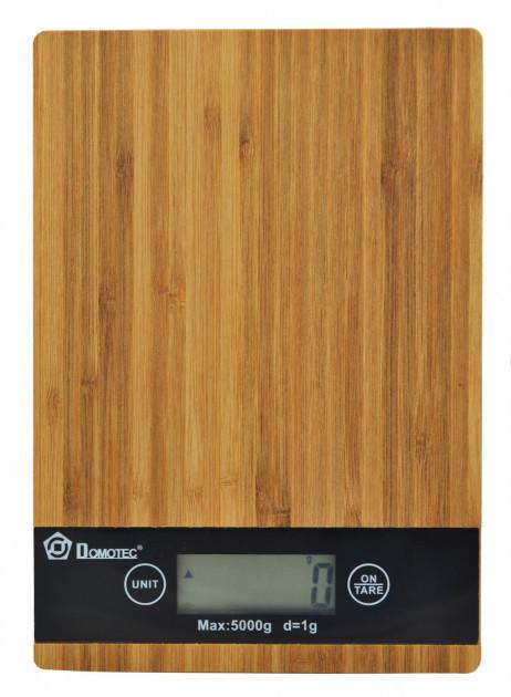 Весы кухонные платформа бамбук на 5 кг Domotec MSA
