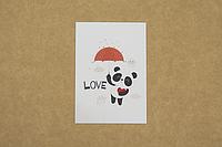 """Мини-открытка 040. 95*65 мм """"Love"""", фото 1"""