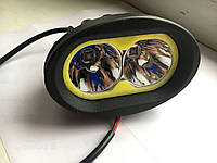 Фари ETC з ДГЗ (LED) РОбочий світла, додатково світла, Дальній 20W, 12-32 V (Білий колір)