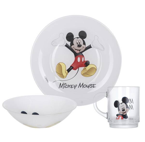 Disney Mickey Colors Набор для детей - 3 пр Luminarc L2124