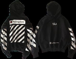 Оригинальный худи / Men's hoodie Off-White x Champion (SS 2018)