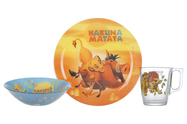 Disney Lion King Набор для детей - 3 пр Luminarc P9345