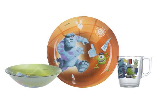 Disney Monsters Набор для детей - 3 пр Luminarc P9261