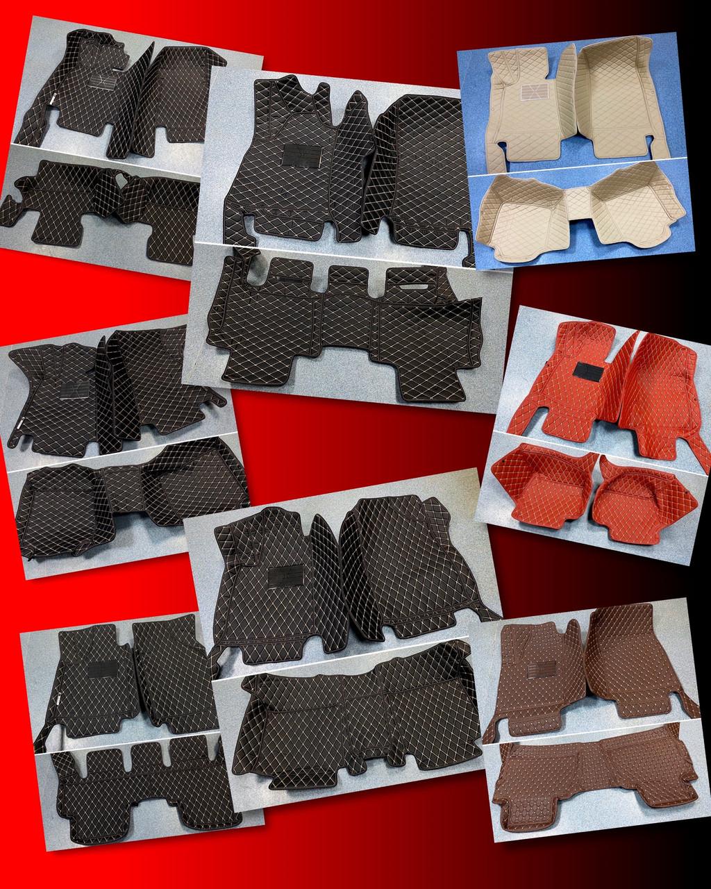 Комплект ковриков из экокожи для Audi Q7, от 2010 года