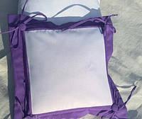 Подушка с фото или именная . фиолетовая