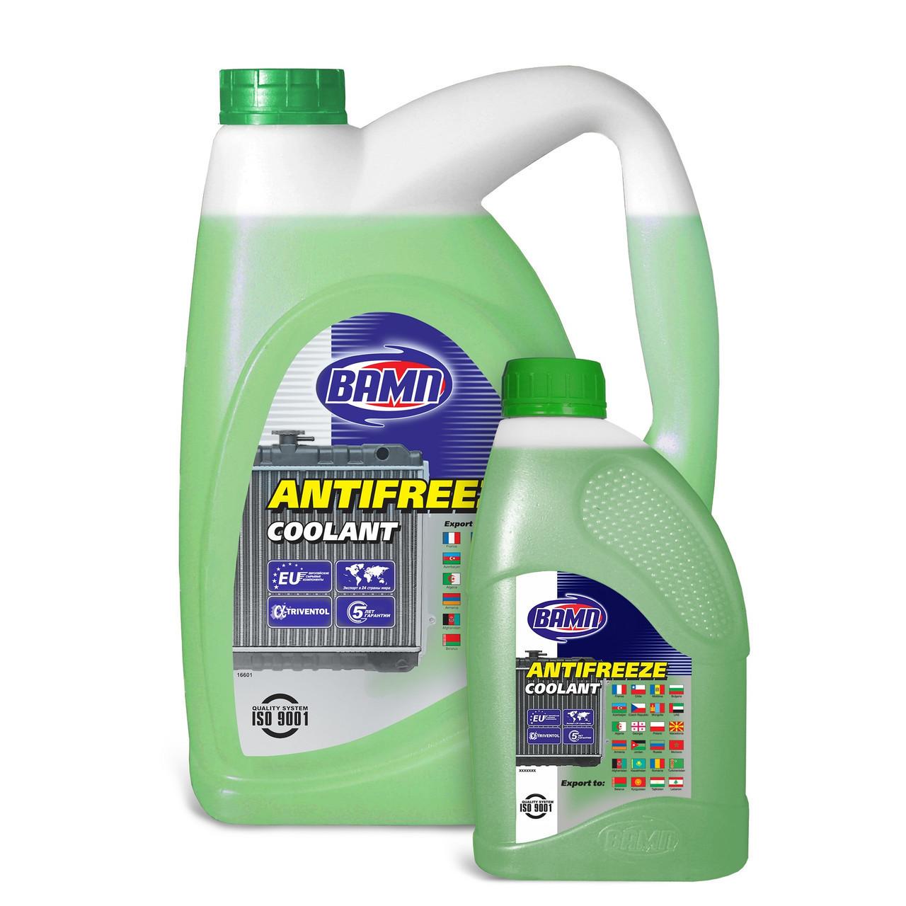 Вамп Антифриз-40 зеленый 10л Охлаждающая жидкость