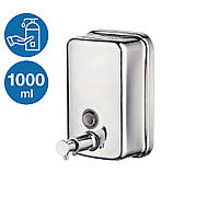 Дозатор жидкого мыла из нержавеющей стали 1000 ml (Китай)