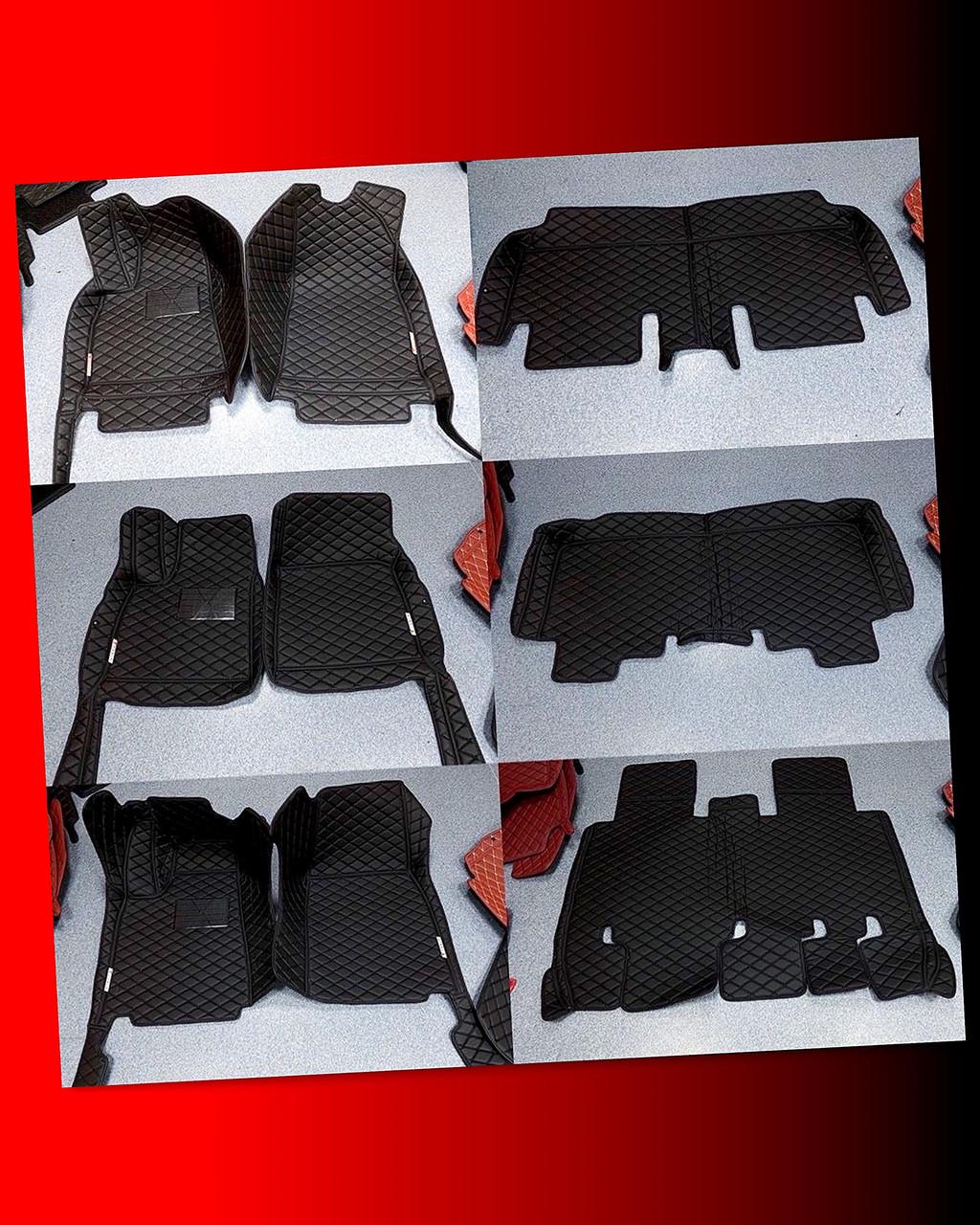 Комплект ковриков из экокожи для Tesla model S