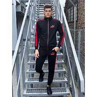 Спортивный костюм Puma черно-красный весна-осень