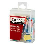 Кнопки-флажки Axent, 30 шт. в пласт. коробочке 4215-A