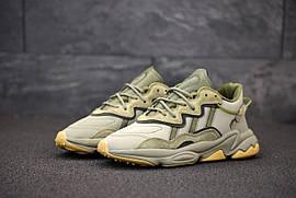 Мужские кроссовки Adidas Ozweego кожа/замша ( в стиле Adidas)