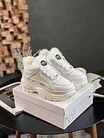Женские Зимние Кроссовки Buffalo Classic Sneaker Белые