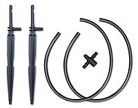 Комплект - крапельниця прикоренева прама 2шт, відріз трубки 50см - 4 мм 2шт, двійник, DSK-2121L