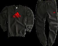 Трикотажный костюм adidas (Premium-class) черный