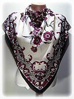 Турецкий шифоновый платок, молочный