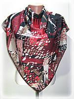 Турецкий шифоновый платок, чёрный с красным