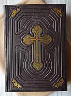 """Книга на подарок """"Библия с кристаллами Swarovski"""" в кожаном переплете."""