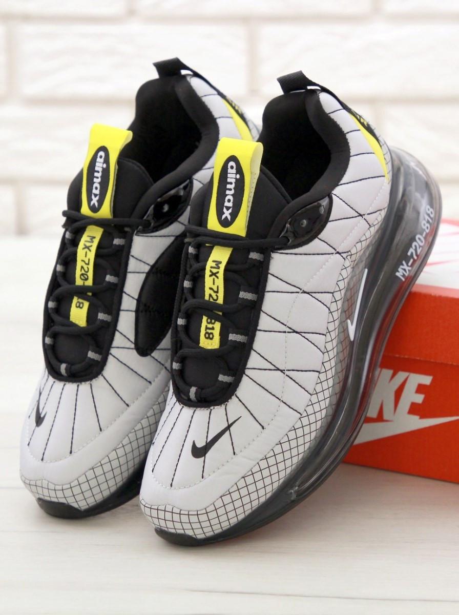 Мужские кроссовки Nike MX-720-818 Grey (Найк Аир Макс серые)
