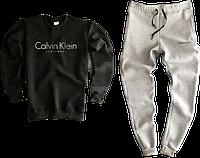 Трикотажный костюм Calvin Klein (Premium-class) черный с серым