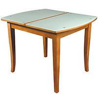 Стол обеденный дерево & стекло