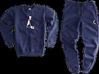 Трикотажный костюм (Premium-class) темно-синий