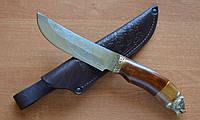 Нож охотничий Медведь  ручной работы, с кожаными ножнами в комплекте, отличный подарок мужчине