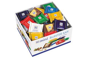 Набір шоколадних цукерок Ritter Sport mini Bunter Mix 84 шт, 1400 грам