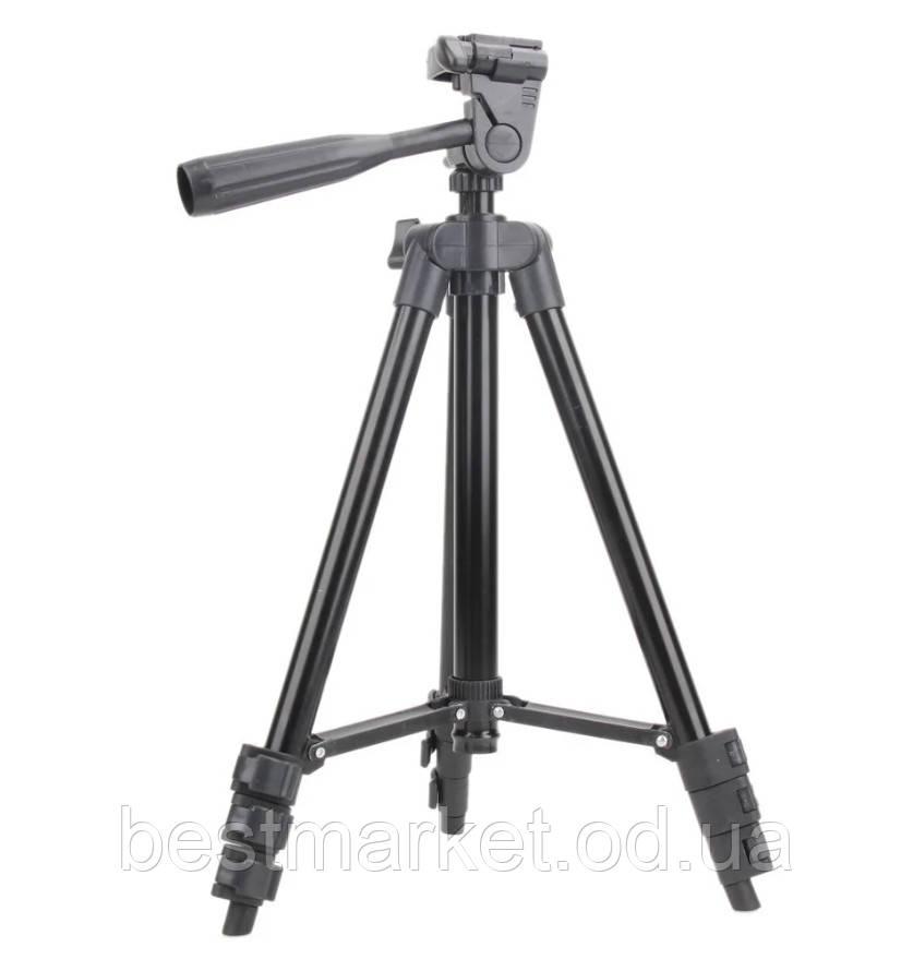 Штатив Трипод для Фотоапарата 3120A Black з Рівнем