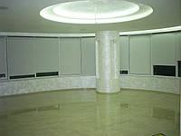 Открытая система М 32. Ткань Шёлк блэк-аут белый Каталог №3. Ткань не пропускающая свет.