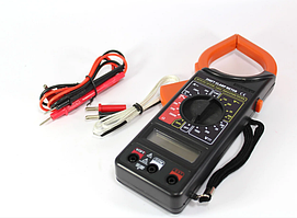 Цифровий Мультиметр DT 266FT Струмові кліщі мультитестер,тестер (1011)