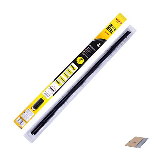 """Резинки щеток стеклоочистителя без основы VOIN, 24""""(600мм), 2шт, блистер (V-WR24-600BR)"""