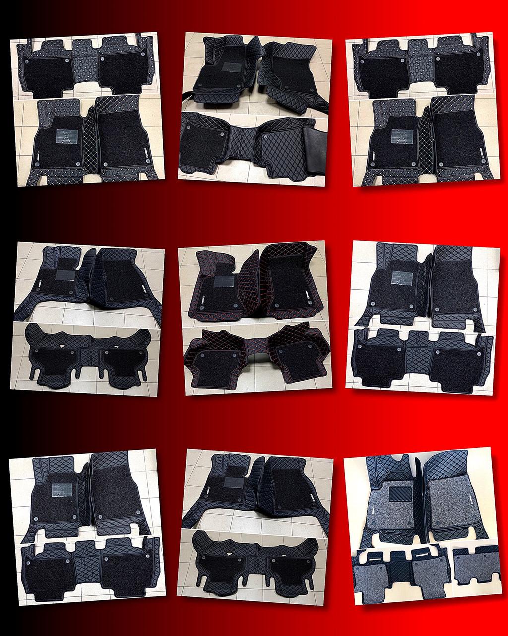 Комплект ковриков из экокожи для Toyota Prado 150, на 5/7 мест