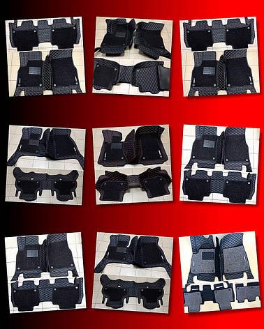 Комплект ковриков из экокожи для Toyota Prado 150, на 5/7 мест, фото 2