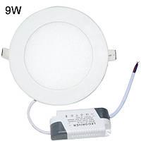 Точечный светодиодный светильник DownLight 9W круглый Белый